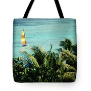 Catamaran On Tumon Bay Tote Bag