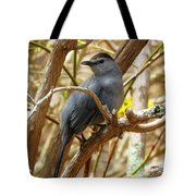 Catbird In Spring Tote Bag