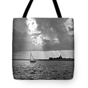 Catboat In Barnstable Harbor Tote Bag