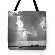 Catboat In Barnstable Harbor Tote Bag