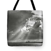 Catboats Sailing In Barnstable Harbor Tote Bag