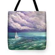 Tell The Storm Tote Bag