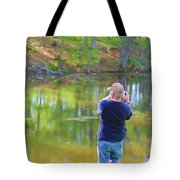 Catching Fish Tote Bag