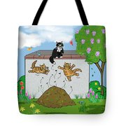 Tabby Cats Falling Tote Bag