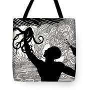 Catching Octopus Tote Bag
