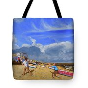 Catching The Ball, St Ives Tote Bag