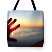 Catching The Sunset At Sleeping Bear Tote Bag