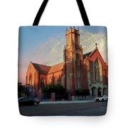 Cathedral At Dawn Tote Bag