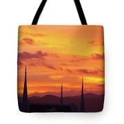 Cathedral Church Sunset Tote Bag