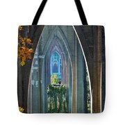 Cathedral Columns Of The St. Johns Bridge Tote Bag