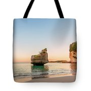 Cathedral Cove, New Zealand Tote Bag