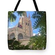 Cathedral In Brugge Tote Bag