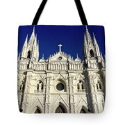 Cathedral In El Salvador Tote Bag