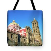 Cathedral In Puebla, Mexico Tote Bag