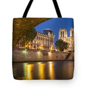 Cathedral Notre Dame And River Seine - Paris Tote Bag