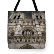 Cathedral Notre Dame Of Paris. France   Tote Bag
