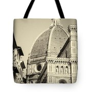Cathedral Of Brunelleschi In Florence Tote Bag