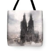 Cathedral Of Cologne Tote Bag