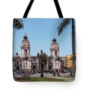Cathedral Of Lima Tote Bag