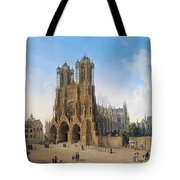 Cathedral Of Notre-dame At Reims Tote Bag