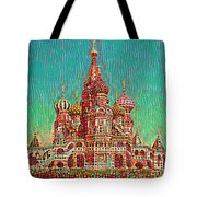 Cathedral Of St. Basil, Moscow Russia Tote Bag