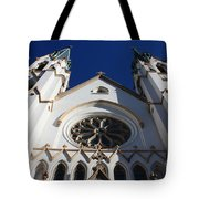Cathedral Of St John The Babtist In Savannah Tote Bag