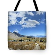 Cathedral Peak Over Waterton Valley Trail - Glacier National Park Tote Bag
