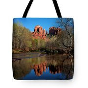 Cathedral Rock Reflection In Oak Creek Tote Bag