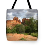 Cathedral Rock With Clouds Tote Bag