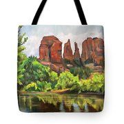 Cathedral Rocks In Crescent Moon Park Tote Bag