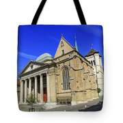 Cathedral Saint-pierre In The Old City, Geneva, Switzerland Tote Bag