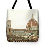Cathedral Santa Maria Del Fiore At Sunset, Florence. Tote Bag