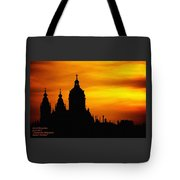 Cathedral Silhouette Sunset Fantasy L A Tote Bag