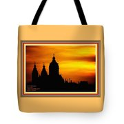 Cathedral Silhouette Sunset Fantasy L A With Alt. Decorative Ornate Printed Frame. Tote Bag