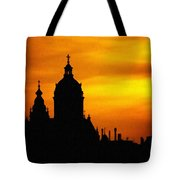 Cathedral Silhouette Sunset Fantasy L B Tote Bag