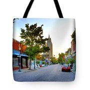 Cathedral Square Gallery On Dauphin Street Mobile Tote Bag