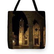 Cathedral Square Havana Cuba Tote Bag