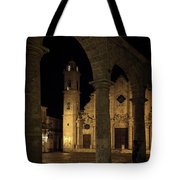 Cathedral Square Havana Cuba Tote Bag