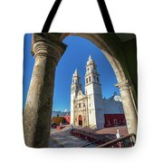Cathedral Viewed From Balcony Tote Bag