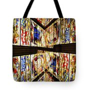Cathedral Window Montage Tote Bag