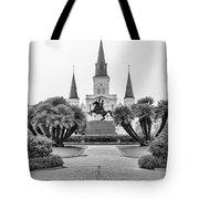 Catholic Basilica Jackson Sq Andrew Jackson New Orleans  Tote Bag