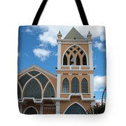 Catholic Church In Ibarra Tote Bag