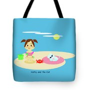 Cathy And The Cat Have A New Friend Tote Bag