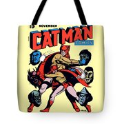 Catman And Kitten Square Format Tote Bag