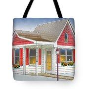 Catonsville Santa House Tote Bag