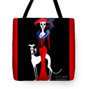 Catrina With Greyhound Tote Bag