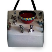 Basts Attendants And  Bowl Of Blood Colored Beer Tote Bag