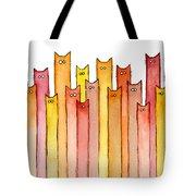 Cats Autumn Colors Tote Bag