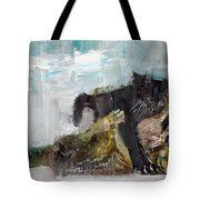 Cats Fighting Tote Bag