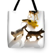 Cats Figurines Tote Bag